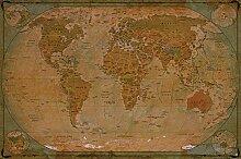 great-art Fototapete Map of The World - Tapete