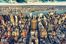 GREAT ART Fototapete New York City Skyline 336 x