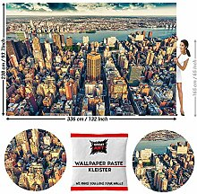 GREAT ART Fototapete New York City Skyline 336 x