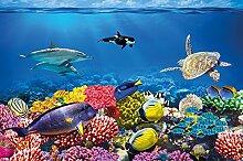 GREAT ART Fototapete Ozean Unterwasserwelt 336 x