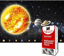 GREAT ART Fototapete Planeten Sonnensystem 336 x