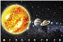 GREAT ART Fototapete Planeten Sonnensystem - 336 x