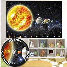 GREAT ART Fototapete - Sonnensystem Planeten -