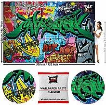 GREAT ART Fototapete Street Style Graffiti