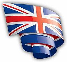 Great Britain Flag Ribbon - Self-Adhesive Sticker