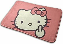 Greatbe Welcome Fußmatte Cool Hello Kitty Indoor