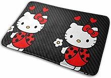 Greatbe Welcome Fußmatte Hello Kitty Indoor