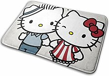 Greatbe Welcome Tür Teppich Hello Kitty Love