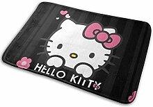 Greatbe Willkommenstür Teppich Hello Kitty Indoor
