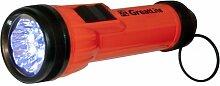 GreatLite 322112D 6LED Hohe Sichtbarkeit Taschenlampe, Orange und schwarz