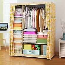 Greawei@ Falten einfacher Kleiderschrank Tuch