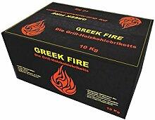 Greek Fire Holzkohle Briketts 1x 10 kg