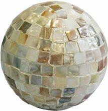 Greemotion 616228 Mosaik Dekokugel ø 12 cm, weiß