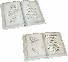 Greemotion Buch mit Schrift Polyresin 29,8x20x10 cm aus Polyresin, Grau