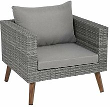 Greemotion Gomera Rattan-Sessel, anthrazit/braun,