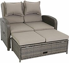 greemotion Rattan-Lounge Bahia Rondo, Sofa & Bett