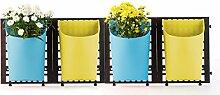greemotion Wand-Pflanztöpfe in Gelb/Blau,