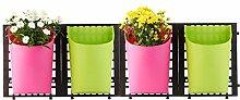 greemotion Wand-Pflanztöpfe in Grün/Pink,