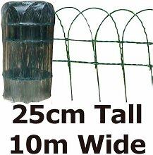 Green Blade BB-CW125Gartenzaun 10x 0,25m PVC beschichtet Zaun–Bordüre grün