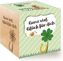 Green Celebrations, Glücksklee, Holzwürfel Mit