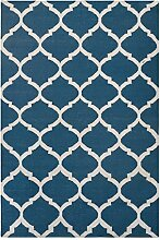 Green Decore «Natura» Baumwoll-Teppich, Blau