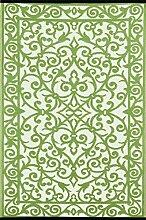 Green Decore Kunststoff-Teppich, wendbar, leicht,