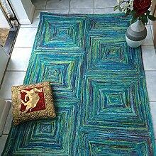Green Decore Teppich aus recycelter Sari-Seide,
