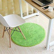 Green Fashion Round Teppich Schlafzimmer Wohnzimmer Bedside Basket Decke Studie Computer Stuhl Drehstuhl Stuhl Teppich Rutschfeste Fuß Pad Yoga Matten ( größe : Diameter 80cm )