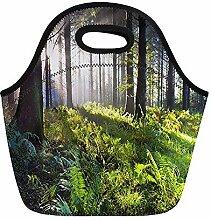 Green Forest Union Lunchtasche mit Holzunterstand
