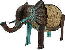 Green Jem gsgd37a Kleiner Elefant Metall Garten Dekoration–Natur