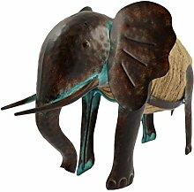 Green Jem gsgd37b Großer Elefant Metall Garten Dekoration–Natur