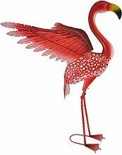 Green Jem Solar Flamingo mit Kopf nach vorn,