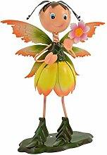 Green Jem stehend Fairy Metall Garten Dekoration, Gelb/Orange, 25x 15x 34cm