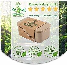 Green World Production Butterdose mit Deckel aus