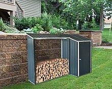 GREEN YARD Holzunterstand mit Anbau Kaminholzregal