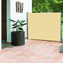 Greenbay 160cm Garten Jalousien Terrasse Seitenmarkise Sonnenschutz Balkon Bildschirm ausziehbar Sand