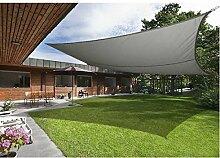 Greenbay Anthrazit Sonnensegel Sonnenschutz Segel für Balkon Terrasse Camping Garten   UV-Schutz PES Polyester   Quadrat 5x5m