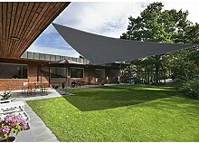Greenbay Anthrazit Sonnensegel Sonnenschutz Segel für Balkon Terrasse Camping Garten   UV-Schutz PES Polyester   Dreieck 3.6x3.6x3.6m