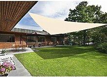 Greenbay Creme Sonnensegel Sonnenschutz Segel für Balkon Terrasse Camping Garten   UV-Schutz PES Polyester   Dreieck 3x3x3m