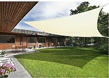 Greenbay Creme Sonnensegel Sonnenschutz Segel für Balkon Terrasse Camping Garten   UV-Schutz PES Polyester   Quadrat 3.6x3.6m