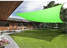 Greenbay Hellgrün Sonnensegel Sonnenschutz Segel für Balkon Terrasse Camping Garten   UV-Schutz PES Polyester   Rechteck 3x4m