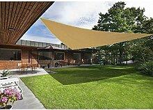 Greenbay Sand Sonnensegel Sonnenschutz Segel für Balkon Terrasse Camping Garten   UV-Schutz PES Polyester   Dreieck 3x3x3m