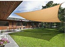 Greenbay Sand Sonnensegel Sonnenschutz Segel für Balkon Terrasse Camping Garten   UV-Schutz PES Polyester   Quadrat 5x5m