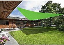 Greenbay Sonnensegel Sonnenschutz Segel, UV Schutz für Balkon Terrasse Garten, Dreieck 3x3x3m Hellgrün