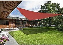 Greenbay Terrakotta Sonnensegel Sonnenschutz Segel für Balkon Terrasse Camping Garten   UV-Schutz PES Polyester   Dreieck 5x5x5m