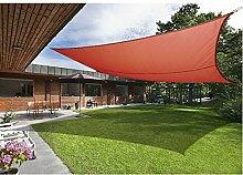 Greenbay Terrakotta Sonnensegel Sonnenschutz Segel für Balkon Terrasse Camping Garten   UV-Schutz PES Polyester   Rechteck 3x4m