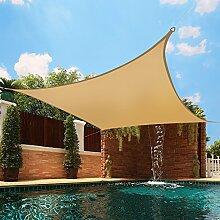 Greenbay UV Sun Shade Sail Garten Terrasse Party Sonnenschutz Sonnendach 98% UV-Block quadratisch Sand 5x 5m