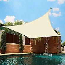 Greenbay UV UV Sun Segel Outdoor Garten Terrasse Party Sonnenschutz Himmel eckig creme 5x 5m