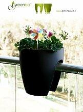 GREENBO Blumenkasten SCHWARZ aus Kunststoff -