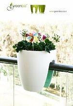 GREENBO Blumenkasten WEISS aus Kunststoff -